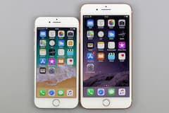 Größenvergleich iPhone 8 (links) vs. iPhone 8 Plus (rechts)