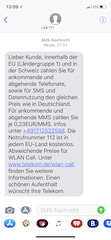 Screenshot der Telekom-SMS